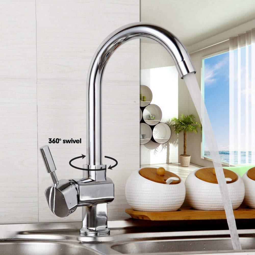 Deck Mount Taps 360 Swivel New Design Kitchen Sink Faucet Taps Polish Chrome Finish Hot & Cold Water Mixer Stream Spout