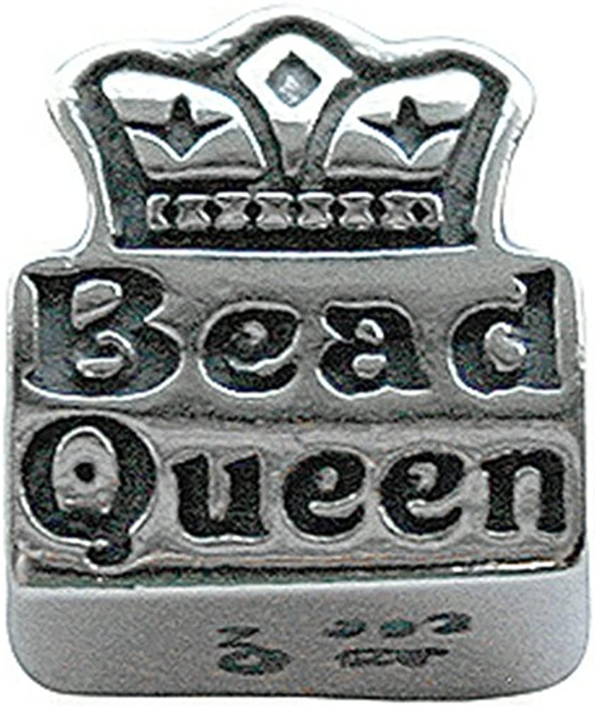 Zable Sterling Silver Bead Queen Bead//Charm