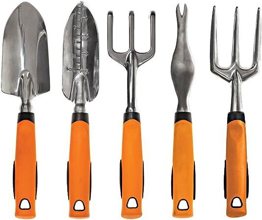 Amazon Com A M Leonard Complete Aluminum Gardening Tool Set 5