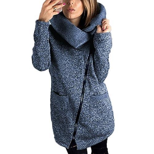 Mujer Chaqueta Capa Cremallera Capucha - Señoras Desgastar con Bolsillo Parka Invierno Camisa Coat H...