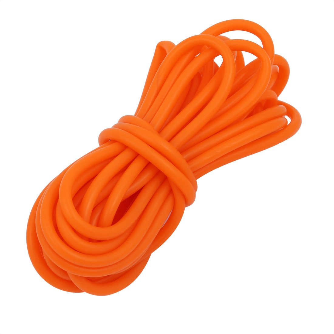 uxcell 3mm x 5mm Dia High Temp Resistant Silicone Tube Hose Rubber Pipe Orange 5M Long