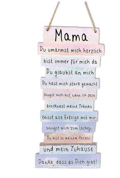 Schild Plankenschild Bild Danke Mama Spruche 15 X 32 Cm