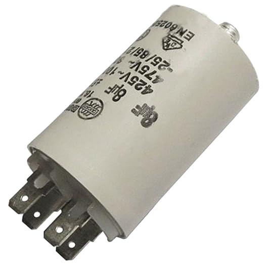 Condensatore per Asciugatrice, 8 MF 450, BRANDT, DE DIETRICH, FAGOR ...