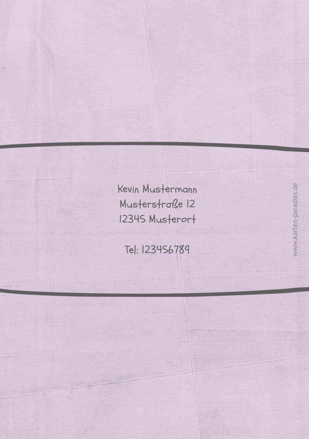 Einladung zum Geburtstag Vogelfest, 10 Karten, Karten, Karten, HellgrauLila B07L1D1FZD | Gutes Design  | Erschwinglich  | Der Schatz des Kindes, unser Glück  32eaef