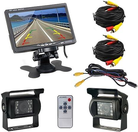 9 Inch Vehicle Backup Camera Monitor Kit,2 X 18 LED Night Vision Reverse 4 Pin