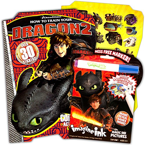 hot sale how to train your dragon imagine ink coloring book super set 2 books - Imagine Ink Coloring Book