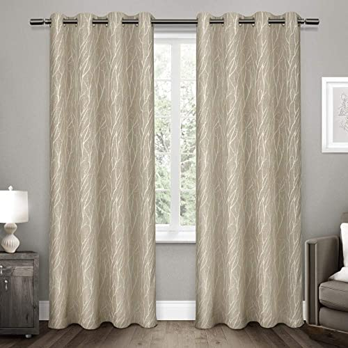 Exclusive Home Curtains Forest Hill Woven Window Curtain Panel Pair