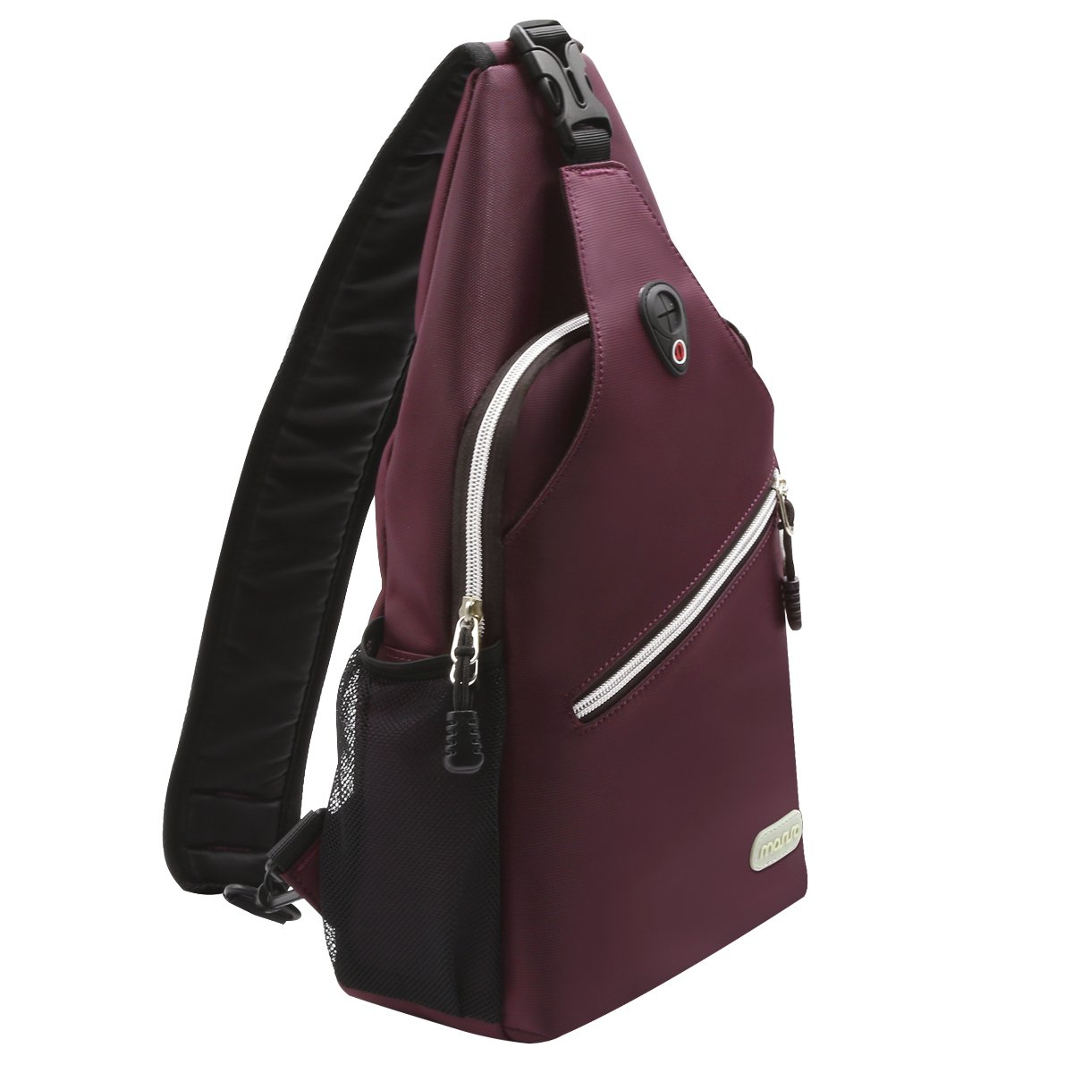MOSISO Sling Backpack, Polyester Crossbody Shoulder Bag for Men Women Girls Boys, Wine Red by MOSISO