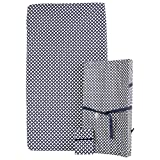 Kidiway Print Changing Pad with Multiuse Pad and Fitted Flannel Sheet (Diamond Navy)