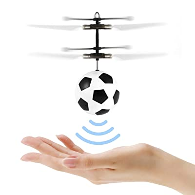 Flying Ball Toys for Kids, Mini Infrared Induction Flying Helicopter Drone with Flashing LED Lights Ball Drone with Remote Controller Games Indoor Outdoor for Boys Girls Kids Teenagers: Toys & Games