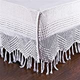 DS White Cotton Hand Crocheted Bed Skirt / Dust Ruffles 18'' Drop (Queen)