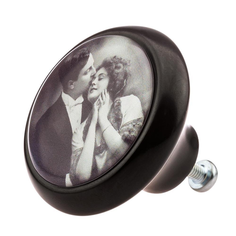 Meubles Bouton Boutons de meuble vintage femme nostalgie Mme chapeau sur motif 35couleurs et designs Knobs4Kids