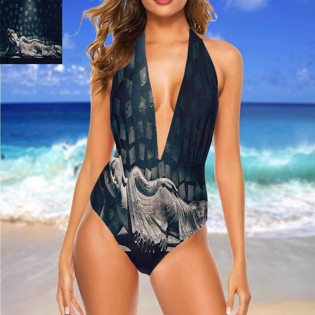 Ensemble de bikini triangulaire avec citation romantique pour activités de plage/randonnée Multi 13.