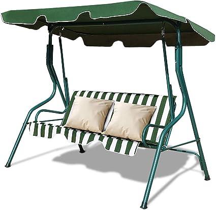 64 x 114 x 15CM Hearthrousy Sonnendach f/ür Hollywoodschaukel Ersatzdach Gartenschaukel 3-Sitzer Ersatzbezug Sonnendach Schaukel UV-Blockweise wasserdichte oberste f/ür den Au/ßenbereich