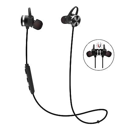 Auriculares Bluetooth Magnéticos, EWANTIC E1 Cascos Inalámbricos Deportivos, IPX6 Resistente al Agua y al