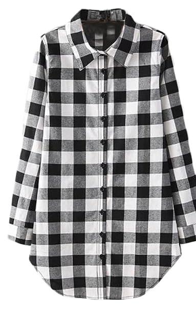 Camisas Mujer Manga Larga Blusas A Cuadros De Vestir Baratas Tallas Grandes Tops Fiesta Elegantes Shirt