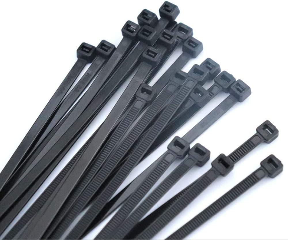 Aibily Nylon Cable Ties Self Locking Zip Ties Strong Cable Tie-Wrap, 6 Inch Wire Ties, Pack of 500 (Black)