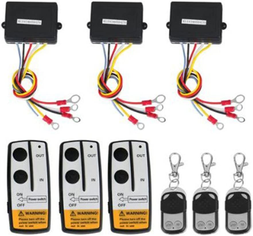 3Pcs Wireless Winch Remote Control Kit For Truck Jeep Atv 12V Car Cordless Controller Suv