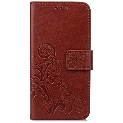 Amazon.com: PU Leather Magnetic Folio Flip Wallet Cover Case ...