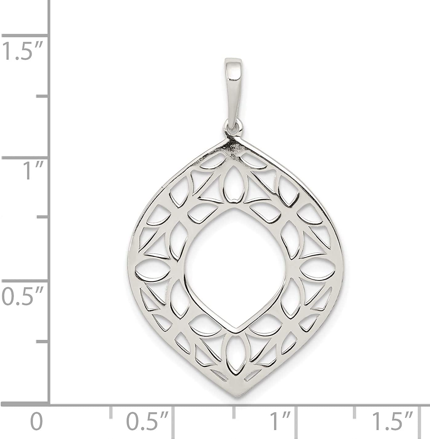 Mireval Sterling Silver Polished Me and Mom Pendant approximately 30 x 23 mm
