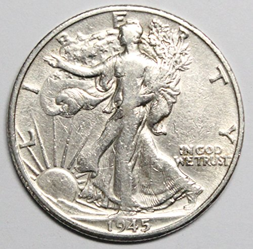 1945 D Walking Liberty Half Dollar 50c Very ()