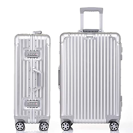 Maleta de equipaje Maletas con ruedas de aluminio de viaje ...