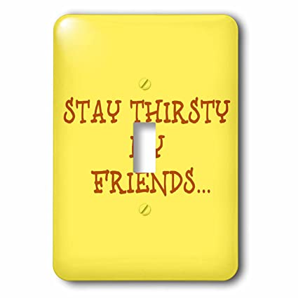 3drose Xander Funny Quotes Stay Thirsty My Friends Brown