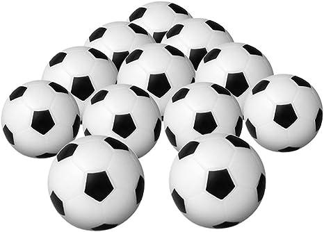 Eoamlk Juego de 12 pelotas de futbolín de plástico, color negro y ...