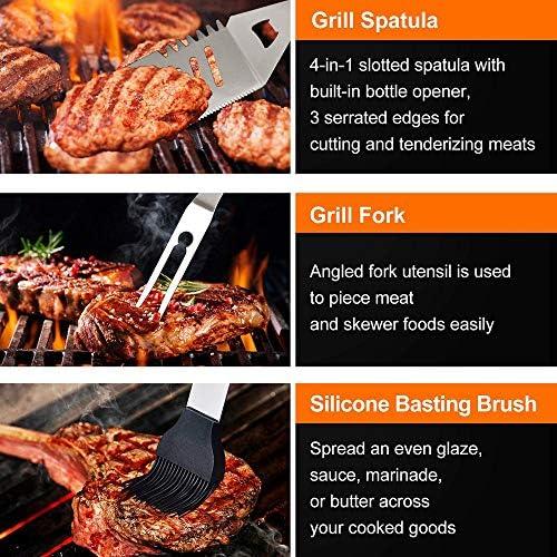 YANGMAN-BJ 10 PCS Barbecue in Acciaio Utensili in Acciaio Set Armadietti Kit Alluminio Custodia Camping Cucina Barbecue Estivo Parti Utensili per Donne degli Uomini