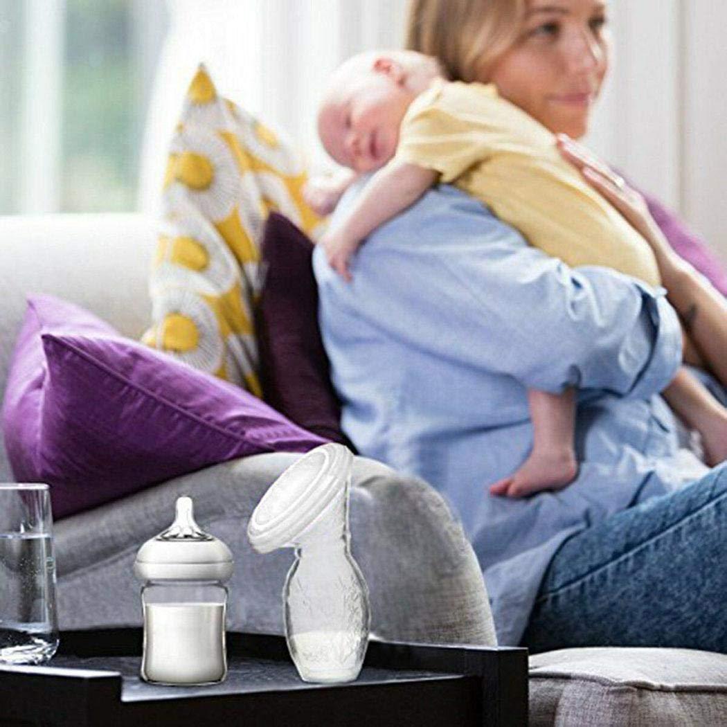 LEANO Silicone Breastfeeding Manual Breast Pump Milk Saver Anti-Overflow Breast Milk Collector