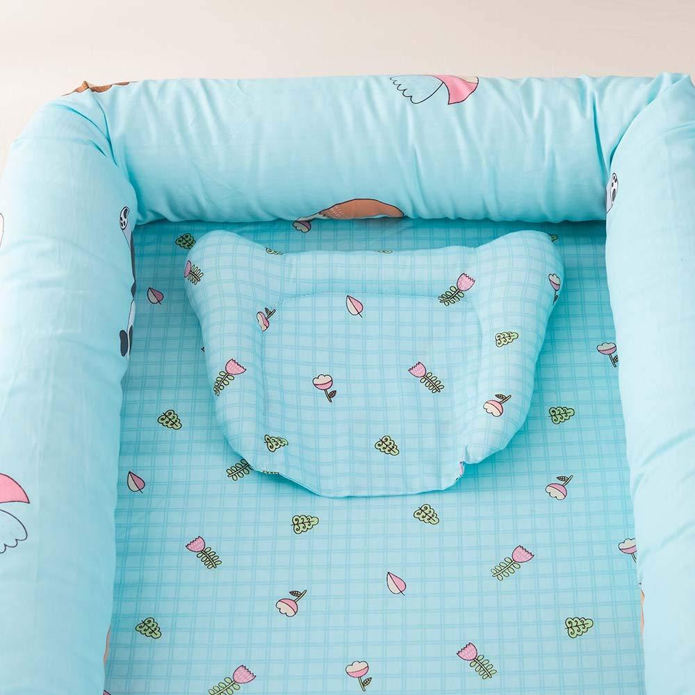 Wiegenbett 100/% Baumwolle Camping a1 Large Reisen ASSR Tragbare Babyliege f/ür Bett Babynest atmungsaktiv und hypoallergen f/ür Schlafzimmer Baumwolle