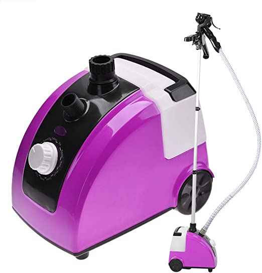 Standing Garment Clothes Fabric Steamer Iron Steam Wrinkle Remove Hanger Purple