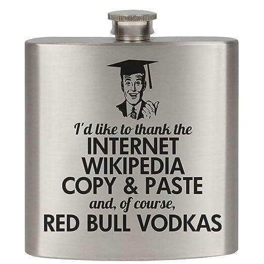 College graduación matraces: 6oz Petaca de acero inoxidable, acero ...