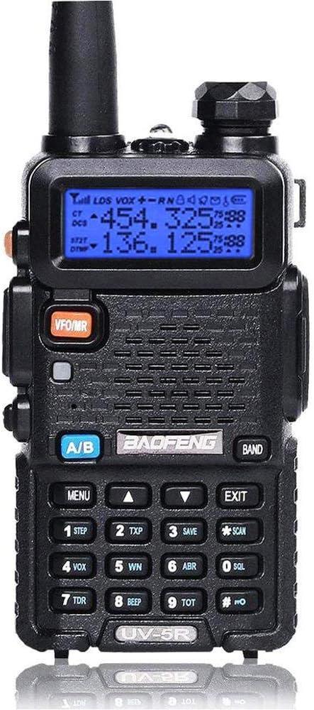 Walkie-Talkie Baofeng UV-5R Doble Banda VHF&UHF Radio Profesional FM Escaner,Negro