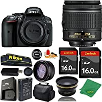 Great Value Bundle for D5300 DSLR – 18-55mm AF-P + 2PCS 16GB Memory + Wide Angle + Telephoto Lens + Case