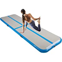 Y-NOT Gymnastiekmat 3 m/4 m/5 m/6 m opblaasbare tumbling mat trainingsmat turnmat vloermat opblaasbare yoga gymnastiek…