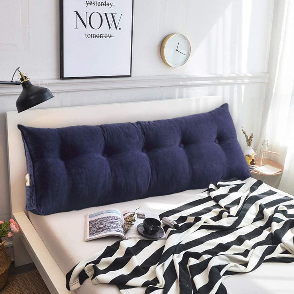 三角ファイルオフセット、ダブルルーム用のソフトバッグ枕、洗浄済みベルベット生地、ホームオフィス用リーディングパッド、5色、6サイズ(色:青、サイズ:150 cm)