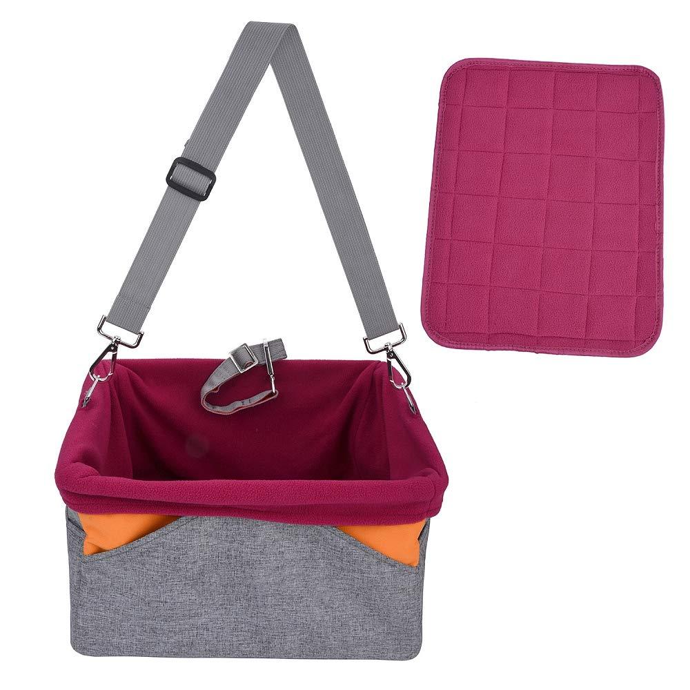 QZQWQNA Windproof Dog Seat Bag Basket Pet Dog Carrier Folding Car Seat Pad Safe Carry House Puppy Bag Car Travel Accessories