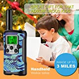 Walkie Talkies for Kids 22 Channel 2 Way Radio 3 Miles Long Range Handheld Walkie Talkies Durable Toy Best Birthday Gifts for 6 Year Old Boys and Girls fit Outdoor Adventure Game Camping (Blue)