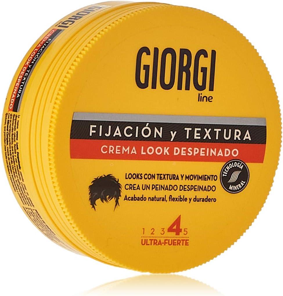 Giorgi Line - Crema Look Despeinado para un Look Depeinado, Textura y Movimiento, Acabado Natural, Flexible y Duradero, Fijación 4 Ultra- Fuerte - 125 ml
