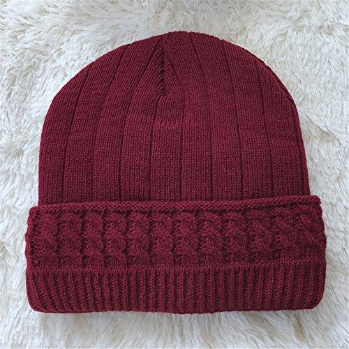 Wine Sombreros Sombreros caliente Otoño Red hombre beanie MASTER sombreros gris de sombreros Navidad oscuro tejidos hombres tejidos engrosada sombreros Invierno Halloween tapas Los qCUw1T
