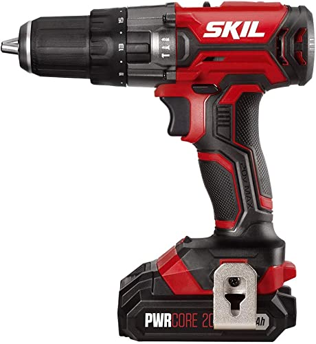 SKIL 20V 1 2 Inch Hammer Drill, Includes 2.0Ah PWRCore 20 Lithium Battery and Charger – HD527802