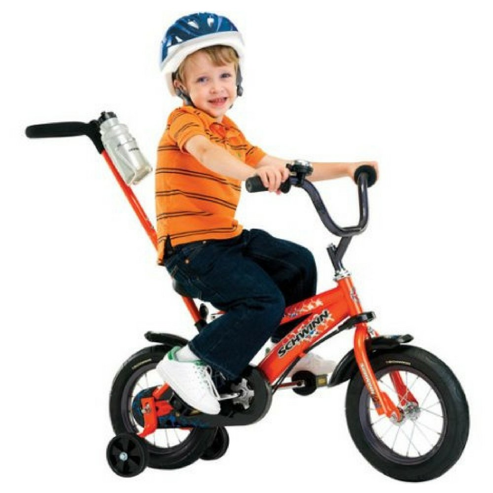 12'' Schwinn Orange Grit Boys' Bike with Removable Push Handle by Schwinn