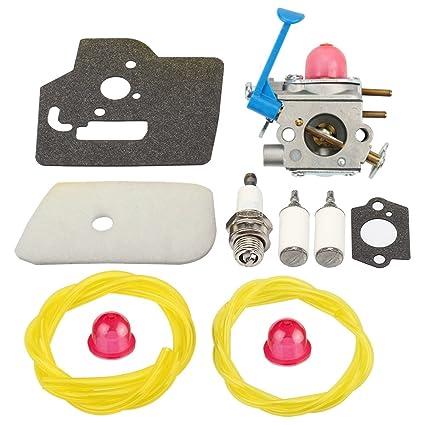 Panari 545081850 Carburetor + Air Filter Tune Up Kit for Husqvarna 128LD  128L 128LDX 124C 124L 128C 128CD String Trimmer / Brush Cutter C1Q-W38
