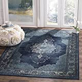 Safavieh Vintage Premium Collection VTG122-2330 Transitional Oriental Navy Distressed Silky Viscose Area Rug (5'3″ x 7'6″) Review
