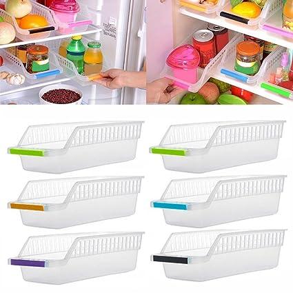 JRing - Organizador de almacenamiento para frigorífico, con mango de fruta, cesta de almacenamiento