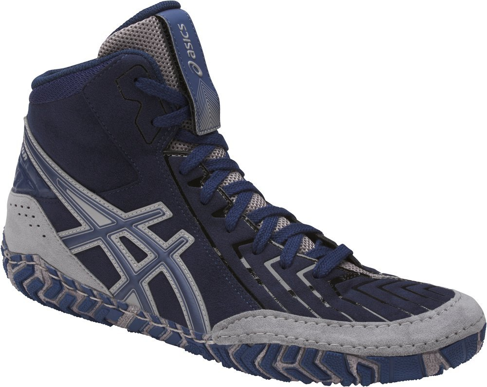 ASICS Men's Aggressor 3 Wrestling Shoe, Indigo Blue/Indigo Blue/Aluminum, 12 Medium US