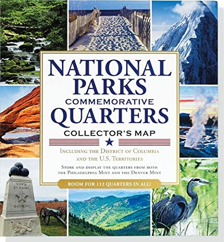 National Parks Commemorative Quarters Collector's Map 2010-2021 (includes both mints!) - State Quarter Collection