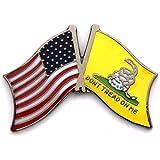 Gadsden Tea Party USA Flag Lapel Hat Pin PPM6020