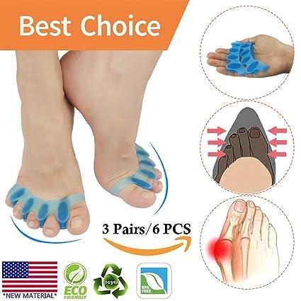 Corrector de juanetes, Separador de dedos, Protectores de alivio de dolor de juanetes,